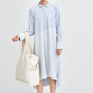 Zara shirt maxi dress size S